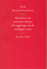 Ter herinnering - Jacoby, H - ISBN: 9789080016033